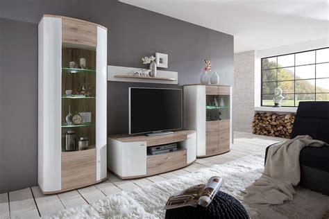 Led Für Wohnwand by Wohnwand Led Beleuchtung Hochglanz Wei 223 2 Farben Beton
