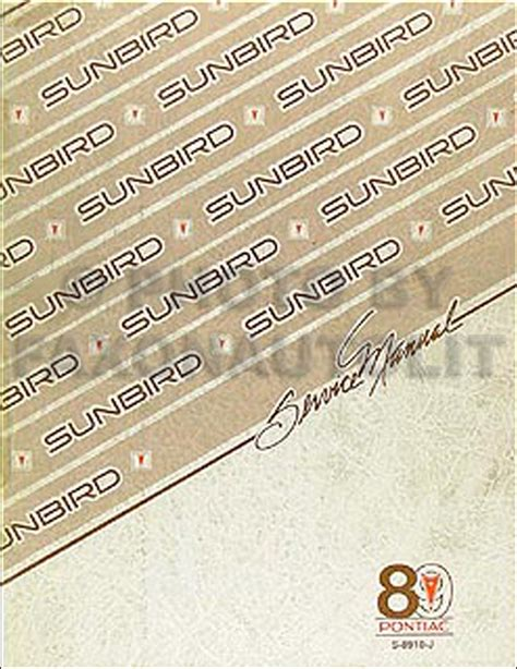 free online auto service manuals 1986 pontiac sunbird free book repair manuals 1989 pontiac sunbird repair shop manual original