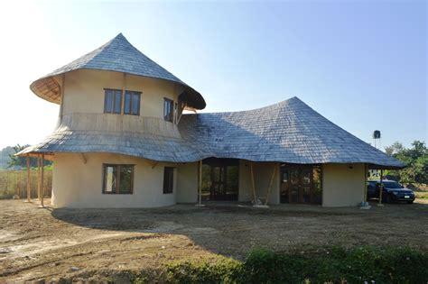 storey bamboo earth family home  chiangmai life