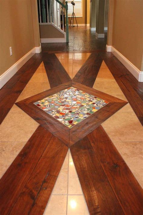 Wood And Tile Floor Design Border Around Hardwood   Two