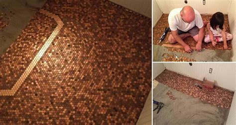 what are pennies made of this guy made a floor with pennies and the result is beautiful