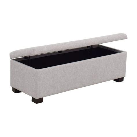 Grey Storage Bench by 81 Wayfair Wayfair Grey Tufted Upholstered Storage