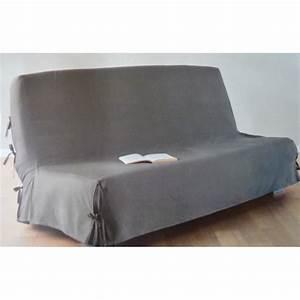 Housse De Clic Clac But : housse canap clic clac taupe 140x200cm achat vente ~ Dallasstarsshop.com Idées de Décoration