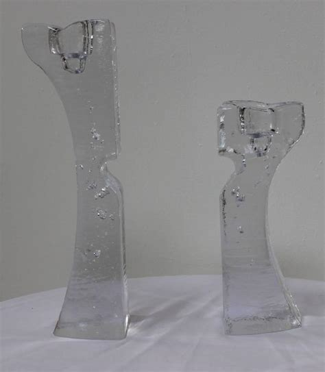 home interiors candle large kosta boda glass candle holders for sale at 1stdibs