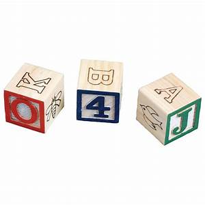 wooden alphabet blocks with personalized cart miles kimball With custom wooden letter blocks