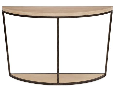 half round hall table redford house blair half round console table modern