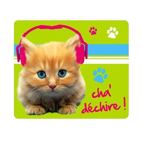 tapis de souris chat d 233 chire cavacado
