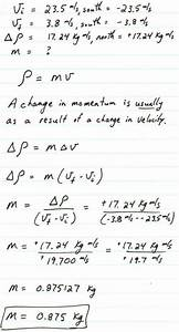 Chapter 9 Momentum - Problems Solutions