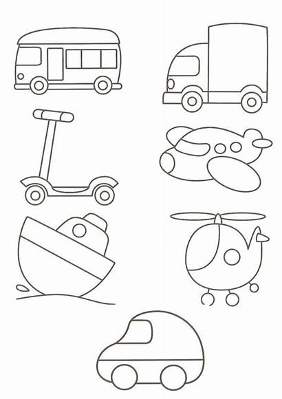 Coloring Templates Transportation Pages Word Microsoft Patterns