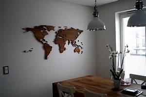Weltkarte Bild Holz : weltkarte deko interior design und m bel ideen ~ Lateststills.com Haus und Dekorationen