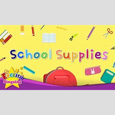 Kids Vocabulary  School Supplies  Learn English For Kids  English Educational Video Youtube