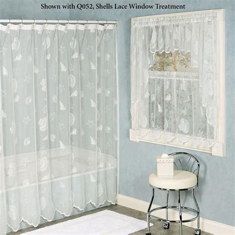 shower curtains seashells lace shower curtain Seashell