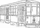 Streetcar Clipart Clip Orleans Clker Darmowe Cliparty Cliparts Coloring Vector Streets Library Clipground Sketch Ash Shared Template sketch template