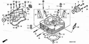 Honda Atv 2002 Oem Parts Diagram For Cylinder Head