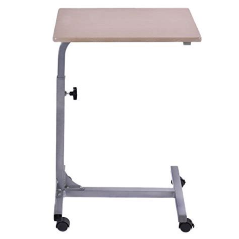 Tangkula Adjustable Wooden Laptop Table Stand Work Study