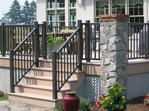 home depot deck installation vinyl deck railings installation home design ideas
