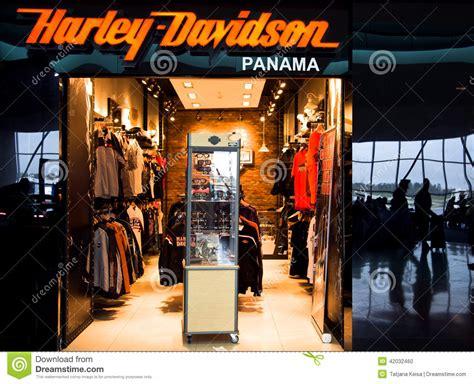 harley davidson shop harley davidson shop in airport of panama city editorial