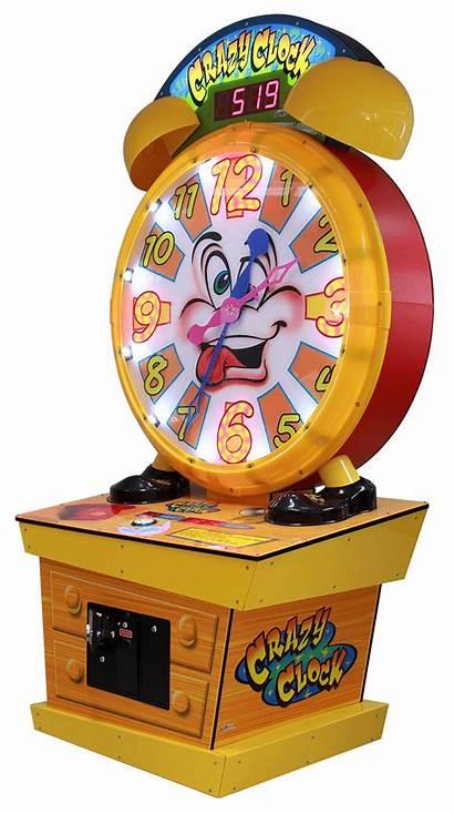 Clock Crazy Arcade Ticket Wheel Space Universal