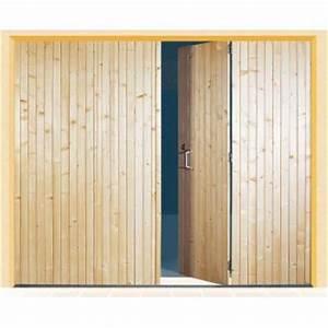porte de garage bois 4 vantaux promethee sothoferm With porte de garage et panneau coulissant bois interieur
