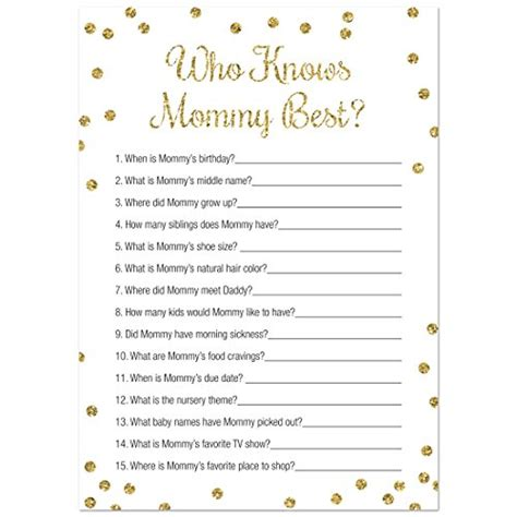 mommy  baby shower game  count faux