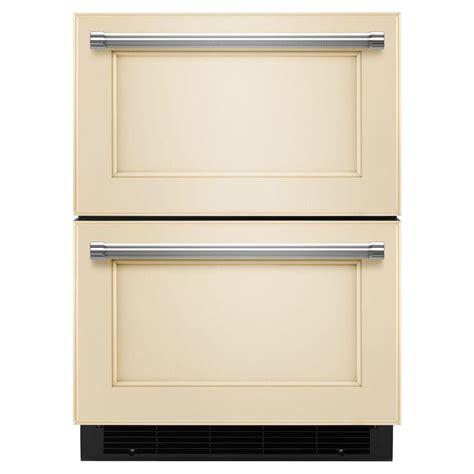 kitchenaid refrigerator drawers kitchenaid 24 in w 4 7 cu ft drawer freezerless