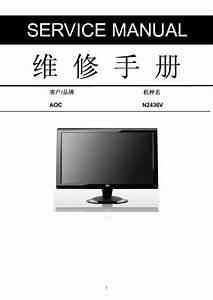 Aoc N2436v Lcd Monitor Service Manual  Service Manual  Repair Schematics