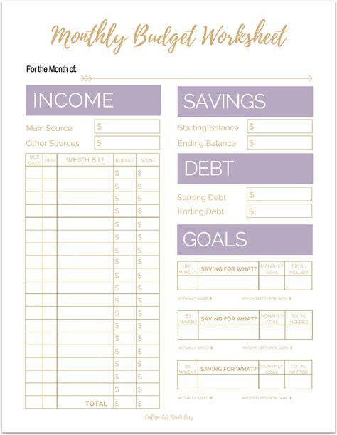 fix  finances asap    simple monthly