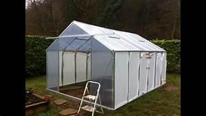 Construire Une Serre Pas Cher : construction d 39 une serre au jardin potager youtube ~ Premium-room.com Idées de Décoration