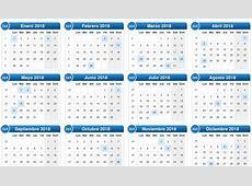 Calendario 2018 con Semanas Numeradas para Imprimir