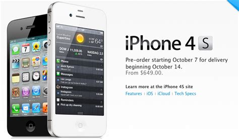 iphone 4 s price iphone 4s contract unlocked pricing starts at 649