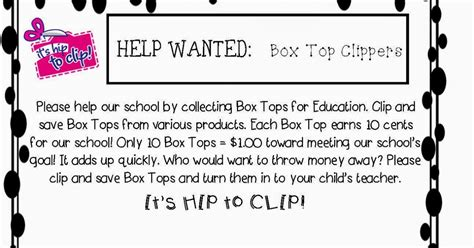 Box Tops For Education Diy Collection