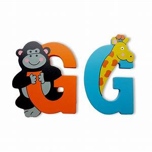 Wooden jungle animal alphabet letters personalised bedroom for Wooden jungle animal alphabet letters