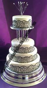 and black wedding cakes black white and silver wedding cake