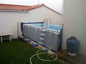 Preparation Terrain Pour Piscine Hors Sol Tubulaire : projet piscine hors sol petit terrain budget ridicule ~ Premium-room.com Idées de Décoration