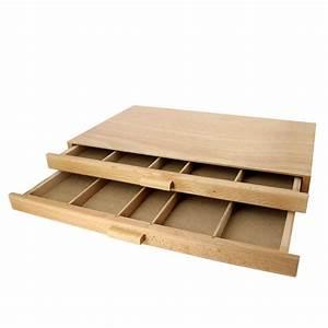 Tiroir De Rangement Bois : boite de rangement en bois 2 tiroirs ~ Melissatoandfro.com Idées de Décoration