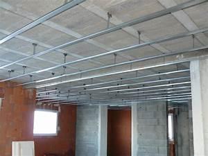 Pose De Placo Sur Rail : faux plafond construction jaures ~ Carolinahurricanesstore.com Idées de Décoration