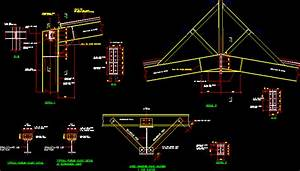 Structural Steel Portal Frame Connection DWG Detail for