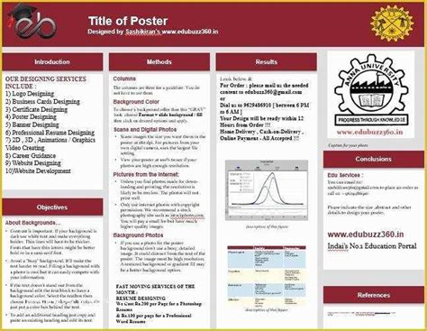 The following two sample papers were published in annotated format in the publication manual and are reproduced here for your ease of reference. Free Powerpoint Poster Templates Of A3 Size Poster Template Free Research Paper ...