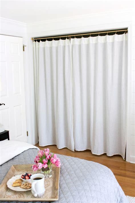 basement window treatment ideas replacing bi fold closet doors with curtains our closet
