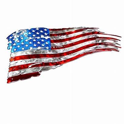 Flag Vector Tattered American Getdrawings Vectors