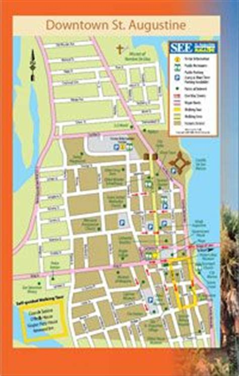 st augustine historic district map    map