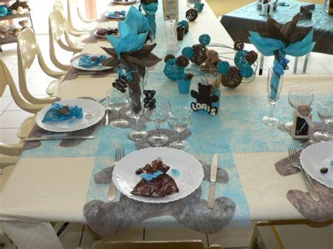 deco bapteme theme nounours bapt 234 me loris theme ourson coloris turquoise et chocolat