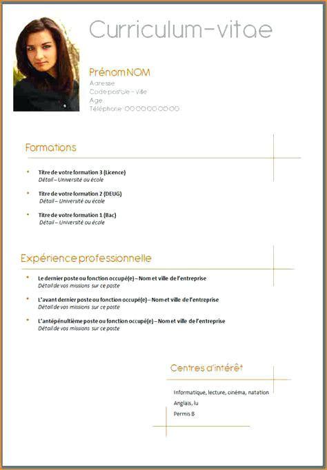 Comment Faire Un Cv by Comment Faire Un Cv Gratuit Exemple De Cv Professionnel