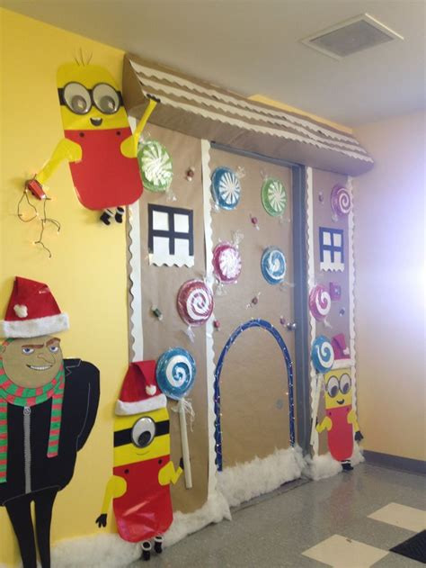 christmas minion gingerbread door decorations christmas