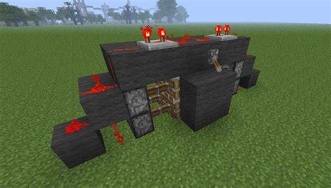 how to make a secret door in minecraft pe how to create the most compact 2x2 piston door in