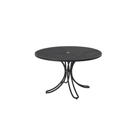 petite table de jardin ronde en fer jsscene com des