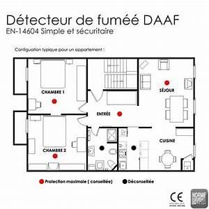 Detecteur De Fumée : pack de 3 detecteurs de fumee daaf en14604 daaf ~ Melissatoandfro.com Idées de Décoration