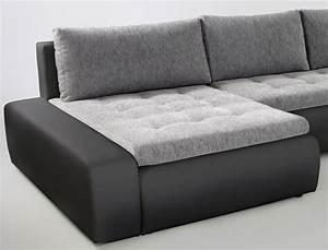 Wohnlandschaft In U Form : wohnlandschaft cayenne 389x212 cm hellgrau schwarz sofa couch u form wohnbereiche wohnzimmer ~ Frokenaadalensverden.com Haus und Dekorationen