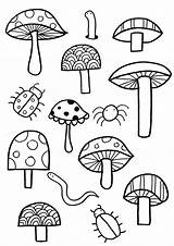 Coloring Pages Garden Colouring Jail Easy Mushrooms Gardening Activities Flower Rocks Paul Mushroom Silas Sheets Plants Grow Children Printable Focus sketch template