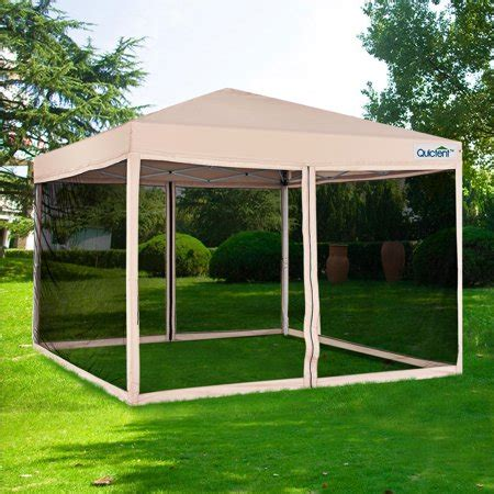 quictent ez pop  canopy  netting screen house instant gazebo party tent mesh sides walls